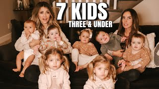 Two Moms Left Alone with Triplets, Twins, a Toddler, and a Baby. 7 kids!