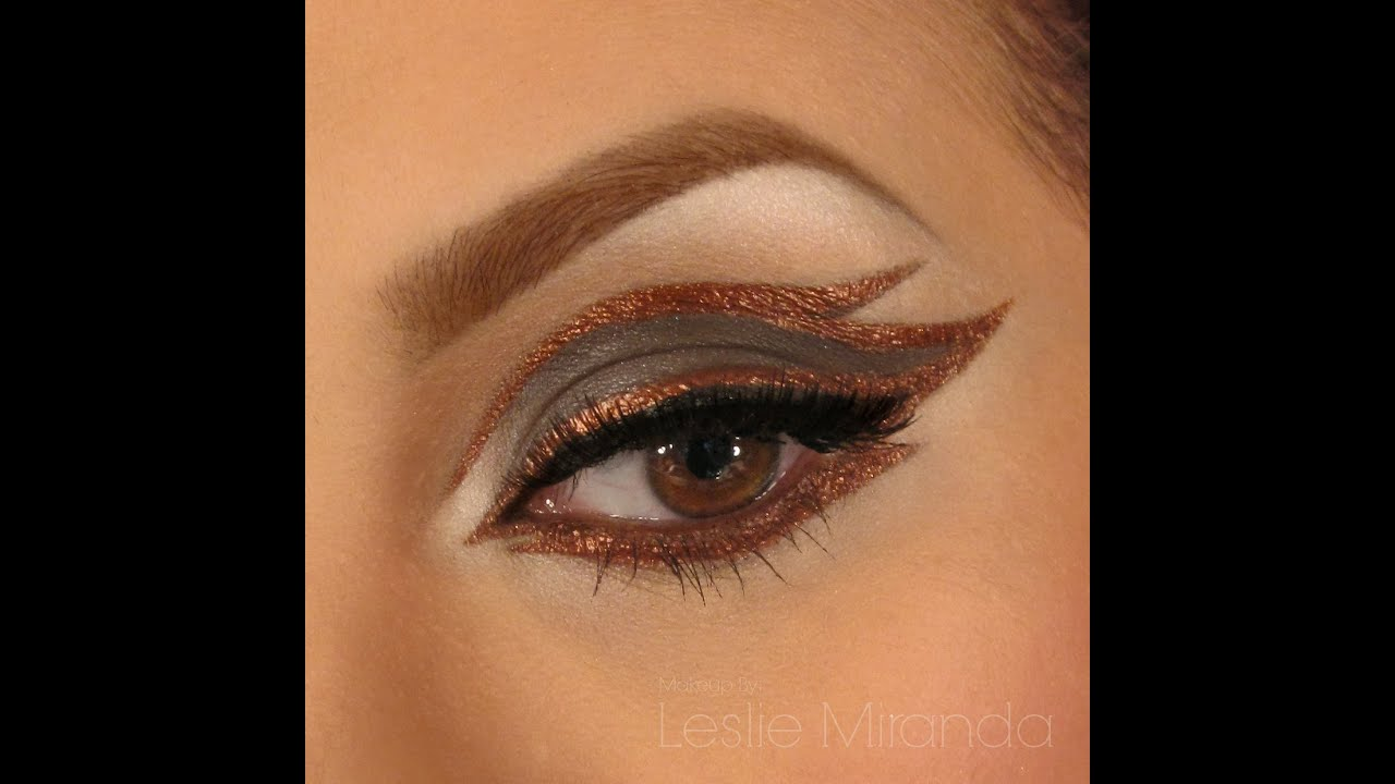 Eye Liner Makeup with Copper