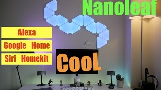 NanoLeaf Aurora smart lights Full set up Review ! Easy installation.
