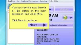 Employee Tip Tracking - Time Clock MTS
