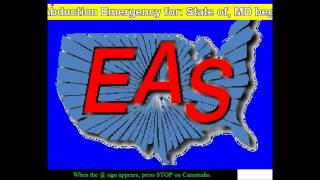 MOCK EAS: Child Abduction Emergency for Maryland