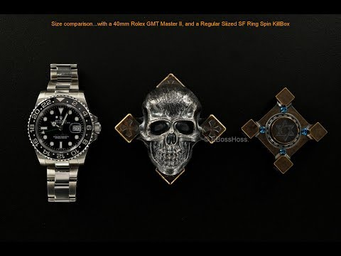 Steel Flame Giant Darkness Skull Ring Spin with XL Slug