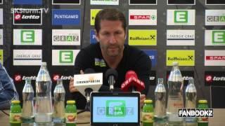 SK Sturm: Mediabriefing vor Admira Wacker (35. Runde 2014/15)