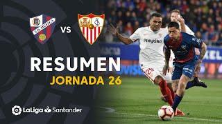 Resumen de SD Huesca vs Sevilla FC (2-1)