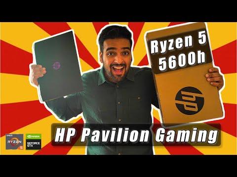 HP Pavilion Gaming Review Ryzen 5 5600h   GTX 1650 ⚡ Unboxing Best Gaming Laptop under 60k