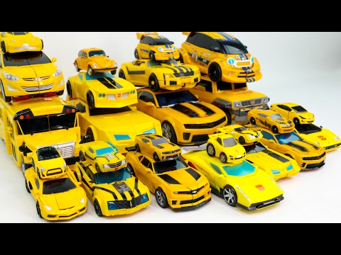 Thumbnail: Yellow Color Transformers Carbot Tobot MiniForce Bumblebee 25 Vehicles Transformation Robot Car Toys