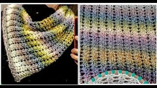 Radiant Braid Cowl, Shawl or Scarf Loom Knit