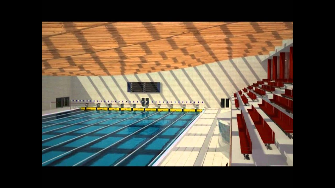 Piscina olimpica 3d youtube for Medidas de una piscina para una casa