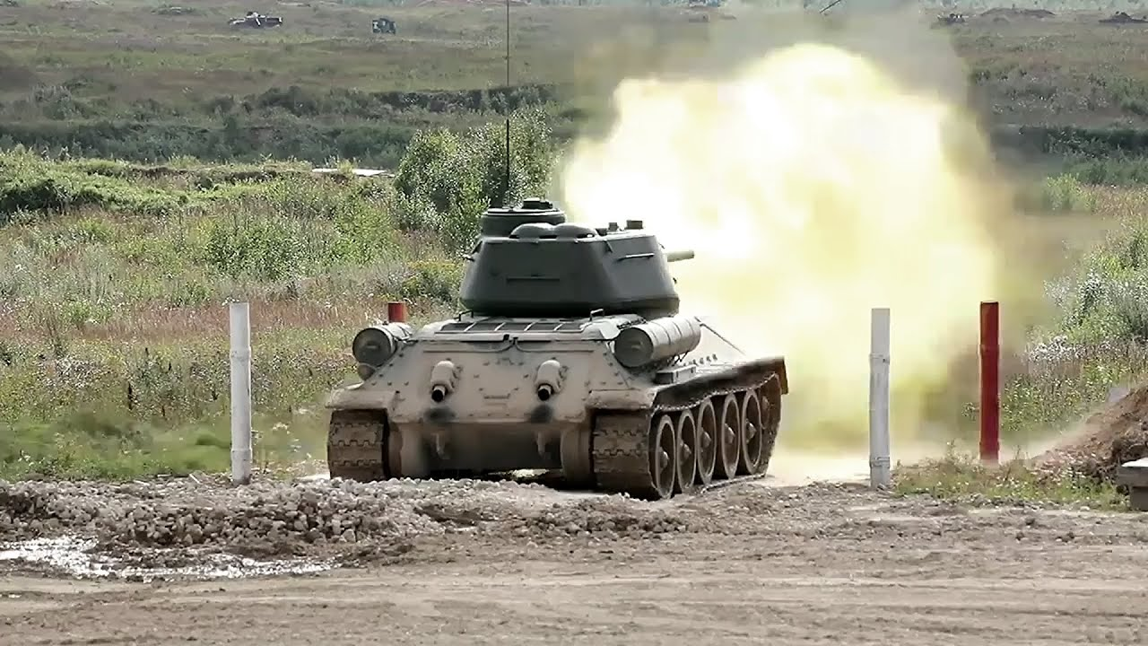 Download Legendary T-34 Tank In Action During Live Fire