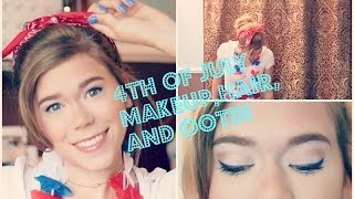 4th of July 2014 Makeup,Hair,and Outfit: GRWM | Makeupkatie95 Thumbnail