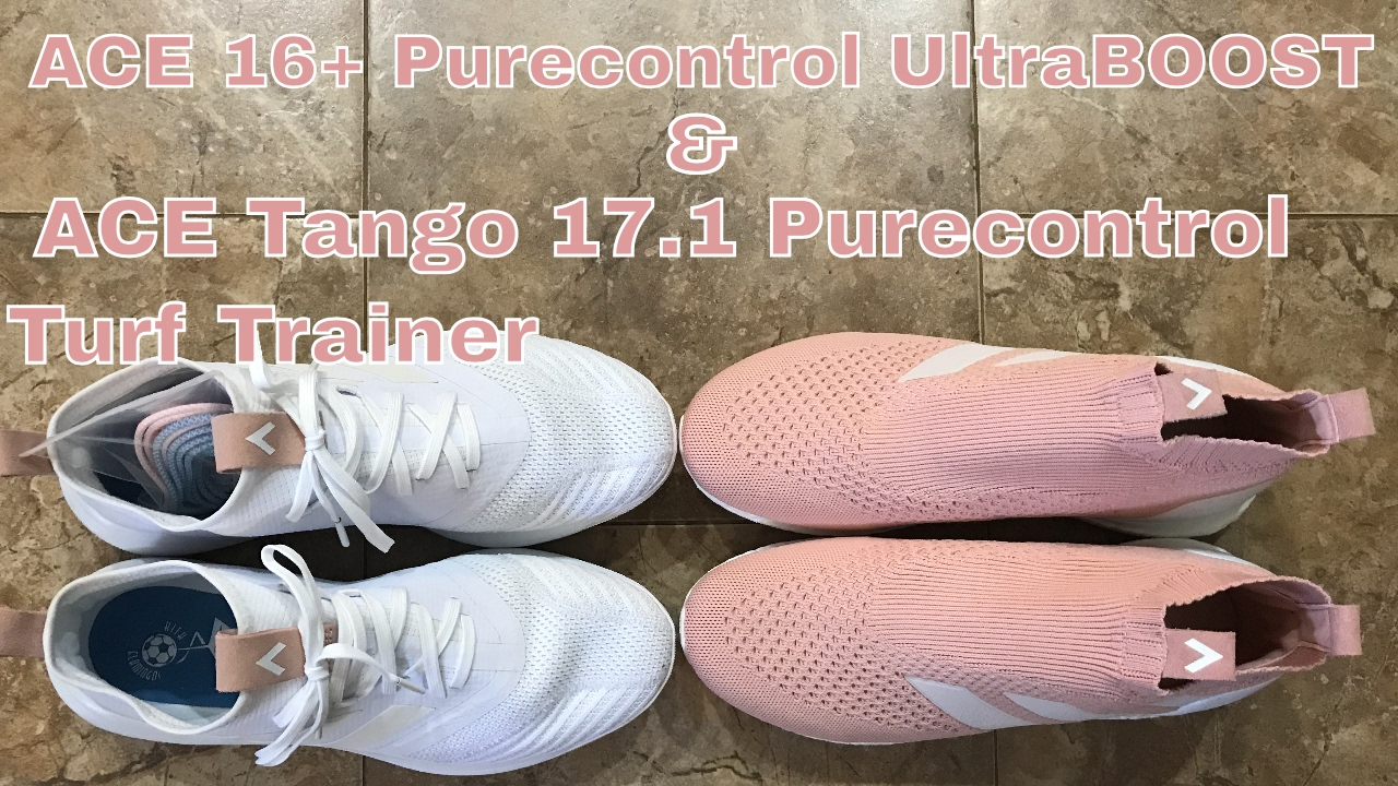 judío incompleto Avispón  ACE 16+ Purecontrol Ultraboost & ACE Tango 17.1 Purecontrol Turf Trainer -  YouTube