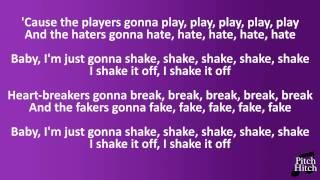Taylor Swift - Shake it Off - Karaoke Acoustic guitar instrumental LOWER KEY  -4