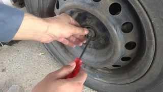 Car front wheel bearing replacement.