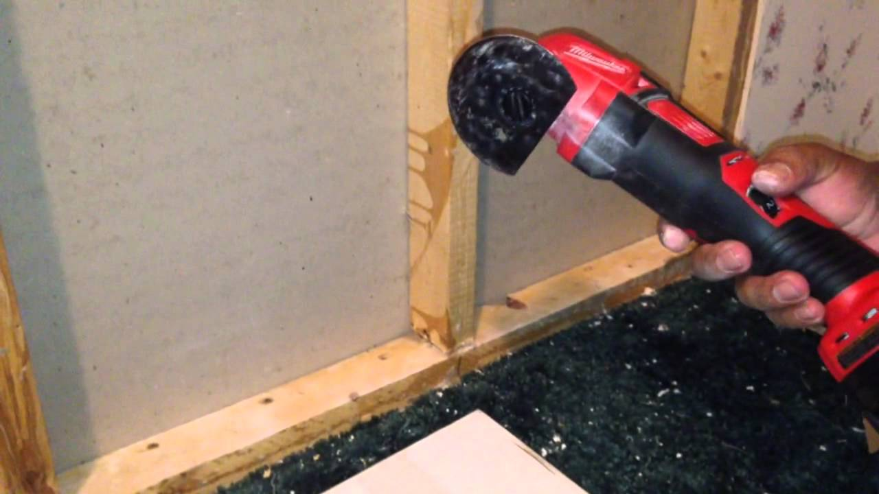 Cordless Milwaukee Multi Tool Cutting Metal Cutting Nails