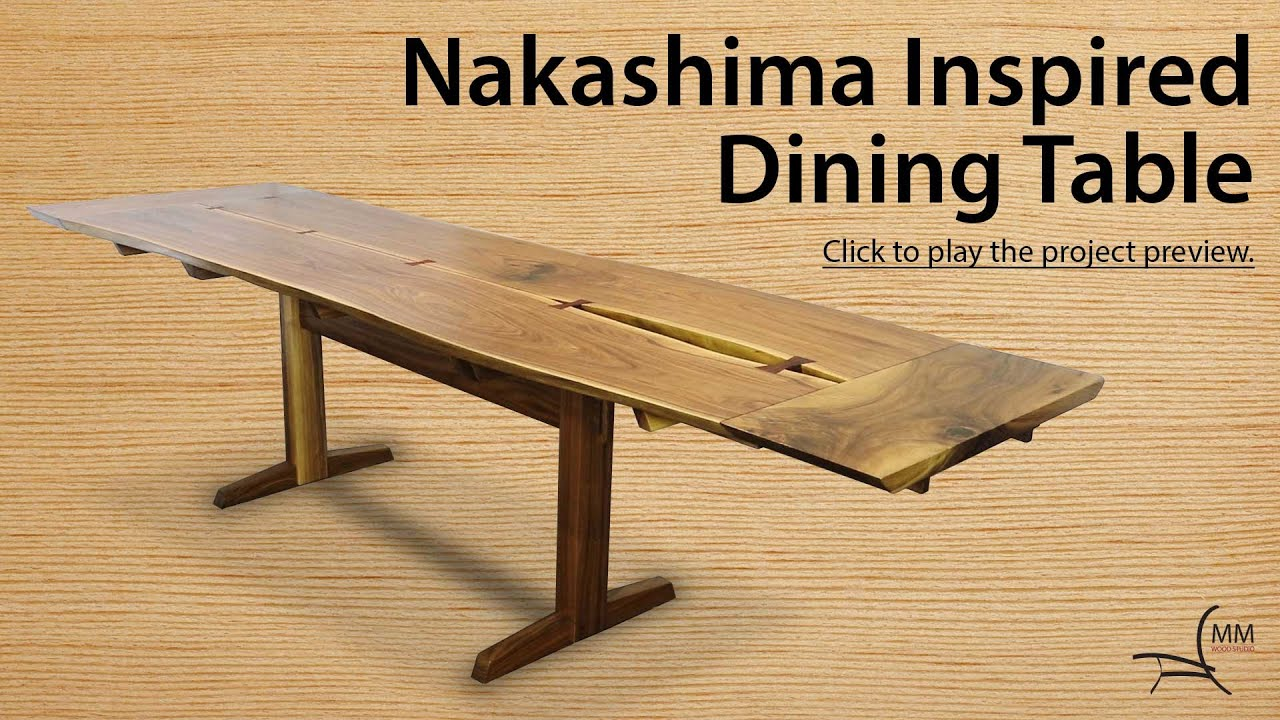 Nakashima Table nakashima inspired dining table project overview - youtube