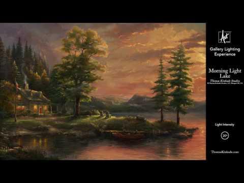 Morning Light Lake from The Thomas Kinkade Vault | Gallery Lighting Experience