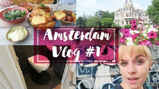 Gambar cover Amsterdam Vlog & FoodDiary #1 - Airbnb Roomtour, Markteinkäufe & Banksy