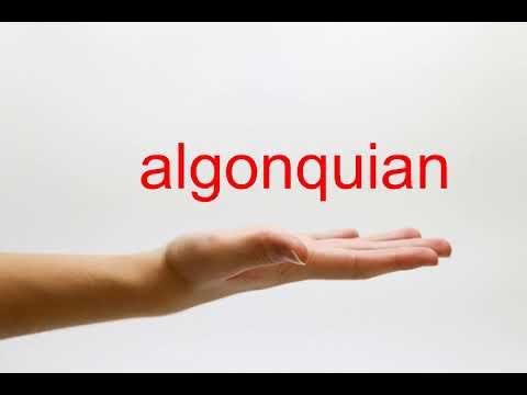 How to Pronounce algonquian - American English