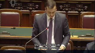 Carlo Sibilia - Risposta su gestione del fenom. migratorio e il fermo dell'hotspot di Augusta