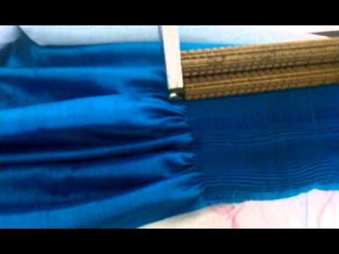 How to pleat silk dupioni part two