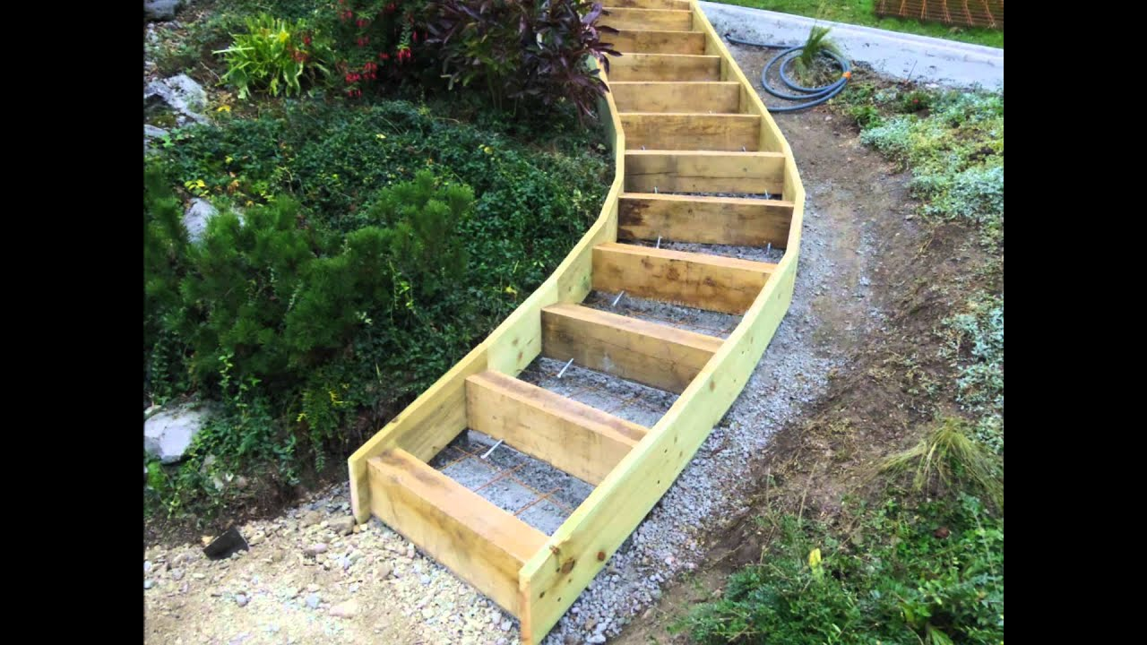 Gruffyterrasse youtube for Escalier exterieur bois kit