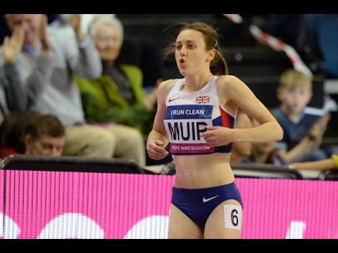 Laura Muir breaks British 1000m Record Birmingham Indoor Grand Prix 2017