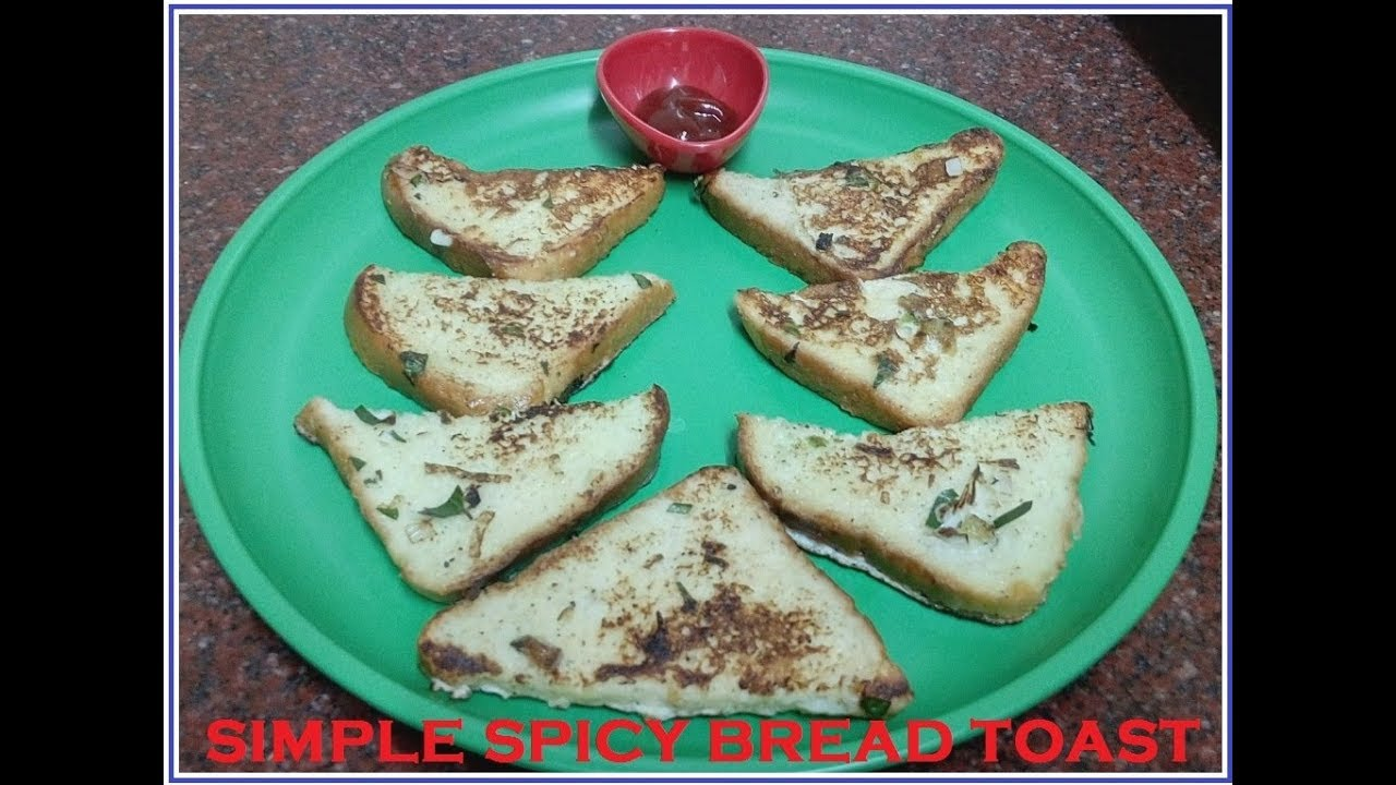 simple spicy bread toast (Malayalam) - YouTube