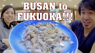 BUSAN to FUKUOKA: A RAMEN marathon, live octopus & THE BEST Korean STREET FOOD!!!!!