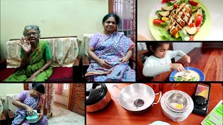 Surprise Gift for My Amma - Harvesting Lettuce from Garden - Grilled Chicken Salad Two Ways