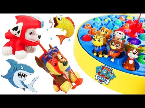 Paw Patrol Skye & Chase Play Let's Go Fishing for Gumballs in The Grinch