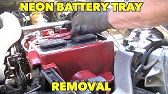 Dodge/Plymouth Neon Battery Tray Removal....Easy