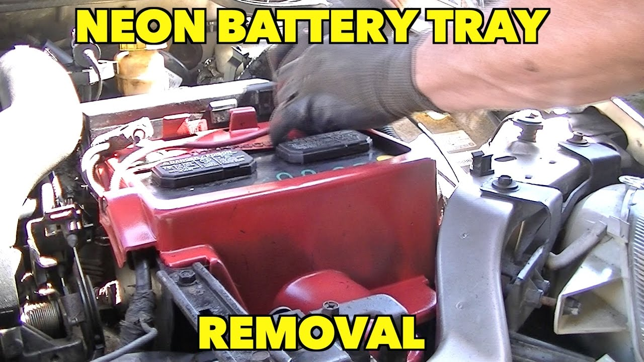 medium resolution of dodge plymouth neon battery tray removal easy