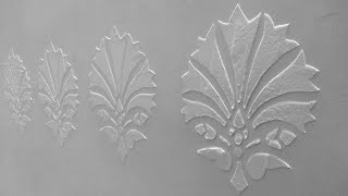 Cutart tutorial : DIY embossed patterns on wall for 3D relief work with putty and Stencils at home