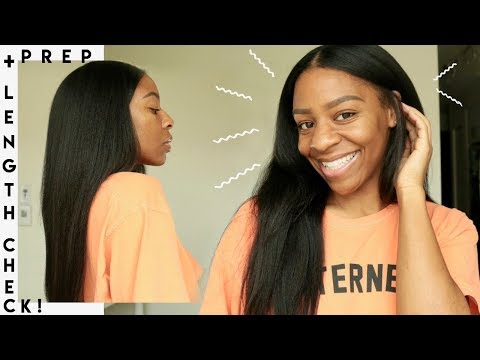 How To Prep/Straighten Natural Clip In Extensions + My Hair is GROWING Growing