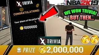 NBA 2K19 WE WON TRIVIA AND YOU WON\'T BELIEVE HOW MUCH VC WE WON