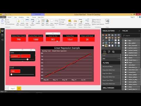 DAX for Power BI - Predicting Days Until a Goal (Linear Regression)