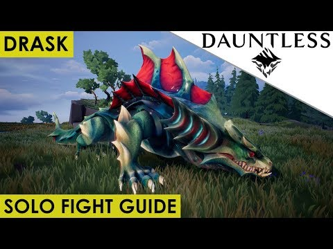 Dauntless - How To Solo Kill Drask UPDATED Guide for Open Beta [Walkthrough]