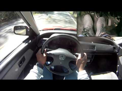 POV How to Drive a Grocery Getter (stock 91 civic dx sedan) pt.1