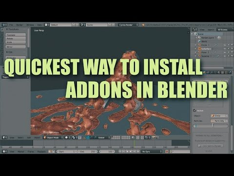 Quickest Way to Install Blender Addons