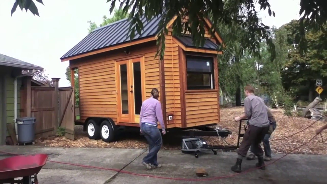 How To Move A Tiny House On Wheels Tiny House Tour And