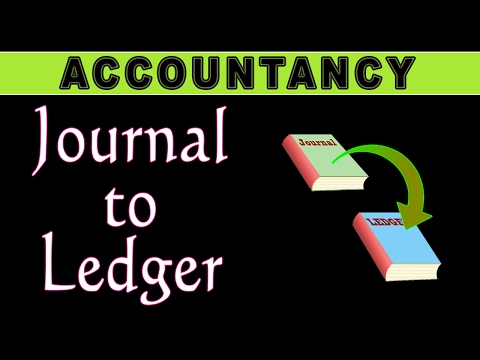 How to post in LEDGER from JOURNAL | Accounting | LetsTute Accountancy