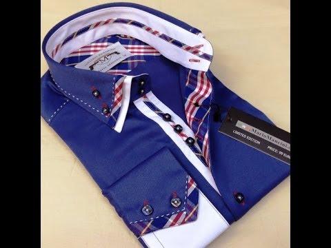 Мужская стильная рубашка Mario Mancini модель 1883-2 - YouTube d6b6f3f9b5b