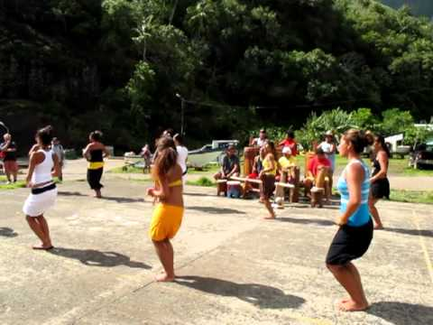 Tahitian Women Dancers on Remote Island of Fatu Hiva, Part 2
