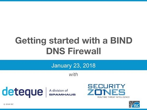 ISC-Spamhaus 'Time to Try a DNS Firewall'