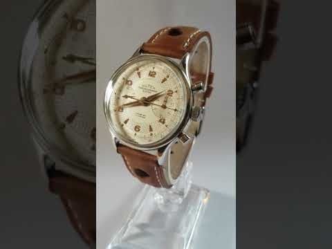 1290917 vintage chronograph suisse watch