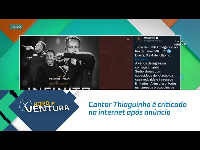 Cantor Thiaguinho é criticado na internet após anúncio de turnê no mês que vem