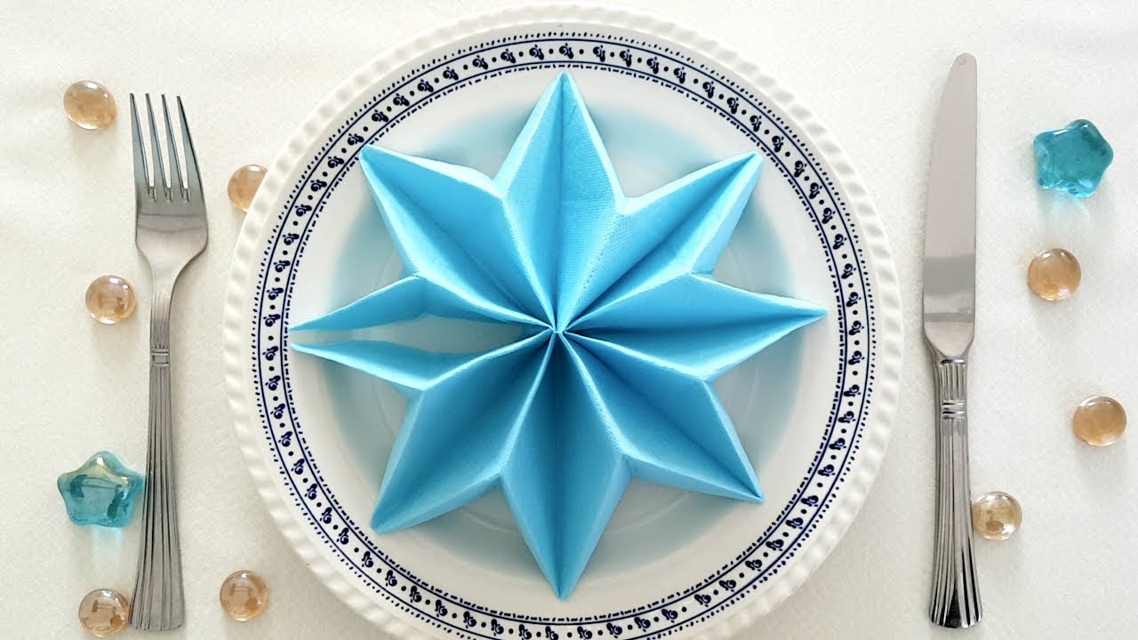 How To Make A Star For Christmas Napkin Folding