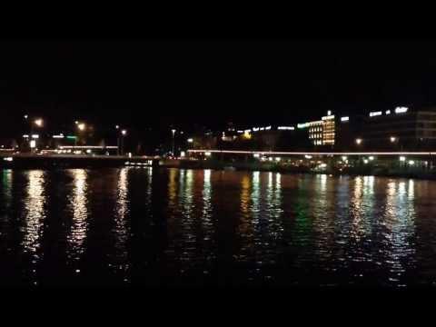 Genève et le Rhône, le soir...