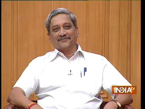 Defence Minister Manohar Parrikar in Aap Ki Adalat ( Full Episode )