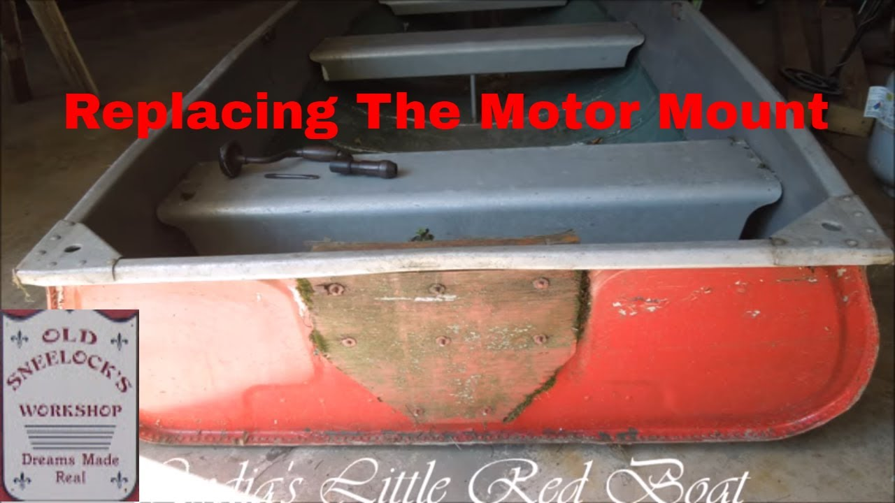 Red Boat Repairs Part 1 Repairing The Transom By Old